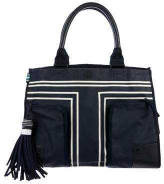 Tory Sport Leather-Trimmed Shopper Tote