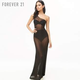 Forever 21 (フォーエバー 21) - Forever 21 メッシュスイムカバーアップワンピース