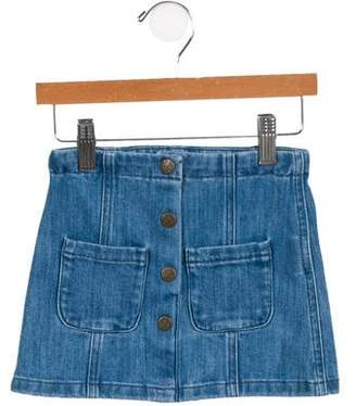 Bonton Girls' A-Line Denim Skirt w/ Tags