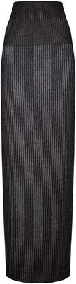 Vetements Long Lurex Tube Skirt