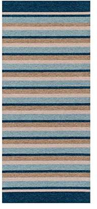 Camilla And Marc The Rug Shop UK Pacific 176 X Teal Striped Rug Shop UK 75 x 160 cm, Polyester, Viscose/Rayon, Multi-Colour, 160 x 75 x 160 cm