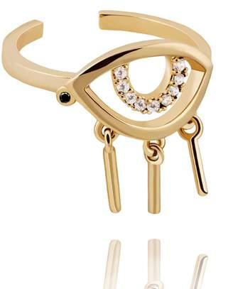 Astrid & Miyu - The Evil Eye Ring In Gold