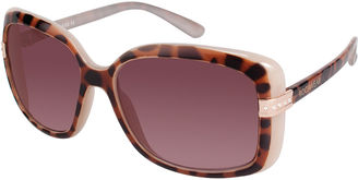 ROCAWEAR Rocawear Two-Tone Rectangular Sunglasses $28 thestylecure.com