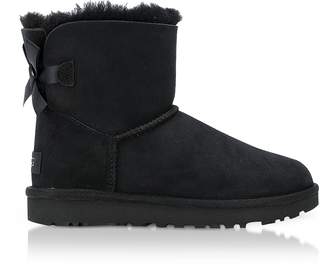 UGG Black Mini Bailey Bow Boots