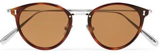 Key Stone Cubitts Keystone Round-Frame Tortoiseshell Acetate Sunglasses
