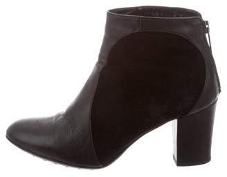 Aquatalia Rounded-Toe Leather Boots