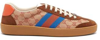 Gucci Jbg Retro Gg Supreme Trainers - Mens - Brown Multi