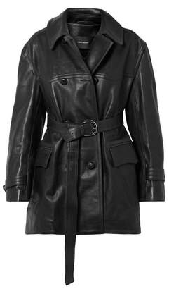 Isabel Marant Chili Oversized Leather Trench Coat - Black