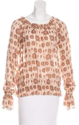 Rachel Zoe Leopard Print Off-The-Shoulder Top