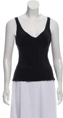 Christian Dior Sleeveless Silk Top