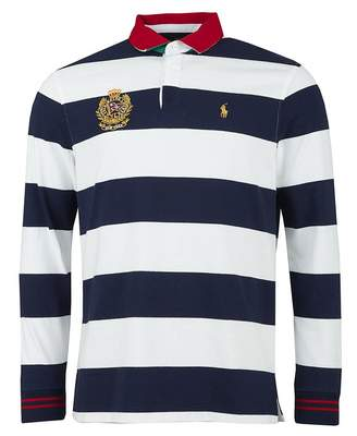 9dcc9c912f2fb6 Polo Ralph Lauren Classic Fit Striped Crest Rugby Shirt Colour: NAVY W