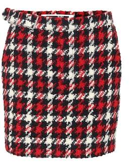 McQ Houndstooth wool-blend skirt