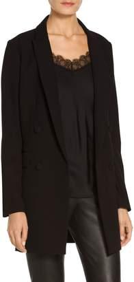 St. John Bella Double Weave Fitted Blazer