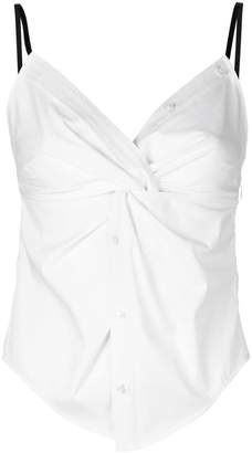 Alexander Wang twisted front cami top