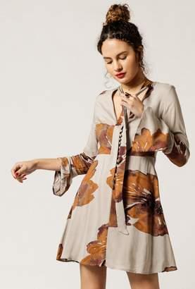 Azalea Floral Print Flare Dress