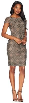 Adrianna Papell Short Beaded Dress Women's Dress