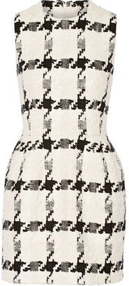 Alexander McQueen - Houndstooth Tweed Mini Dress - Ivory $3,295 thestylecure.com