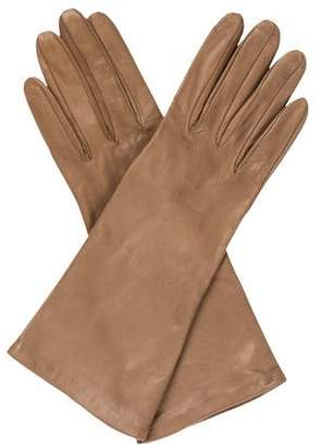 Neiman Marcus Leather Short Gloves