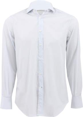 Brunello Cucinelli Windowpane Spread Collar Shirt