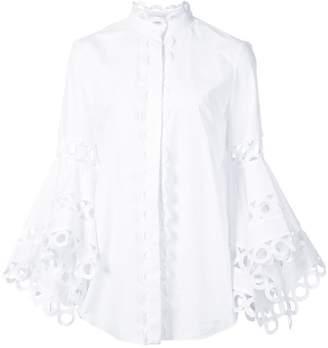 Oscar de la Renta asymmetric sleeve blouse