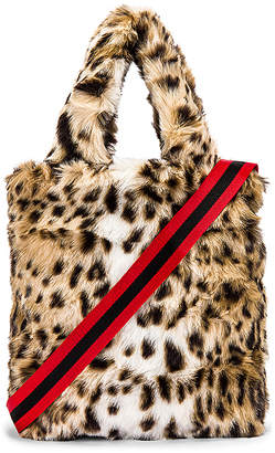 Pam & Gela Leopard Faux Fur Bag