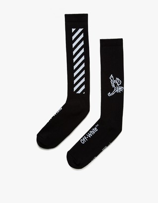 Diag Scorpion Socks Black $74 thestylecure.com