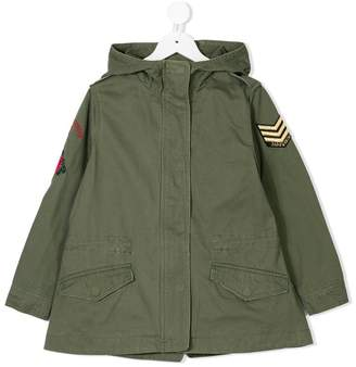 Zadig & Voltaire Kids hooded military parka coat