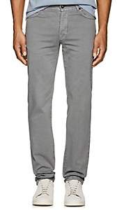 Marco Pescarolo Men's Washed Cotton Twill Pants-Gray