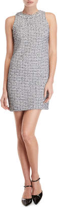 Karl Lagerfeld Paris Tweed Sleeveless Sheath Dress