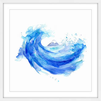 Marmont Hill 'Hokusai Wave' by Michelle Dujardin Framed Painting Print