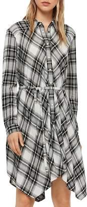AllSaints Tala Plaid Shirt Dress