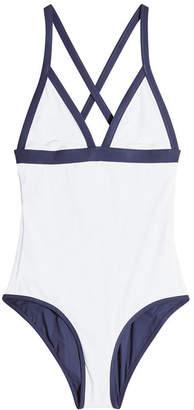 Heidi Klein Triangle Reversible Swimsuit