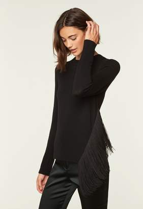 MillyMilly Angled Fringe Pullover