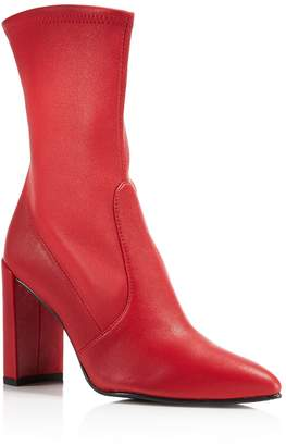 Stuart Weitzman Women's Clinger Stretch Leather Pointed Toe Boots