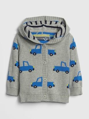 Gap Baby Brannan Bear Garter Truck Sweater