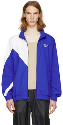 Reebok Classics Blue and White LF Track Jacket