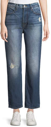 Frame Le Pegged High-Rise Straight-Leg Jeans