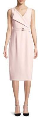 Adrianna Papell Cameron Textured Woven Sheath Dress