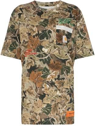 Heron Preston x carhartt camouflage leaves T-shirt