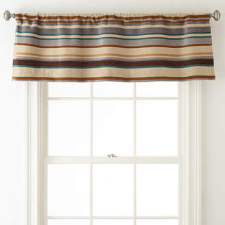 JCPenney JCP HOME HomeTM Tapestry Stripe Rod-Pocket/Back-Tab Lined Valance