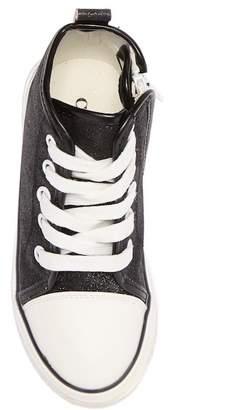 Chloé K NEW YORK Glitter Hi-Top Sneaker (Toddler & Little Kid)