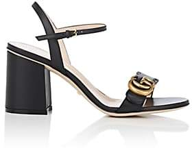 Gucci Women's Marmont Leather Sandals - Black