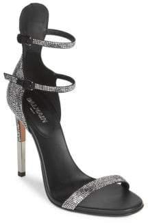 Balmain Elvira Strass Rhinestone Sandals