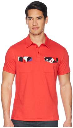 Versace Double Pocket Polo with Back Stripe