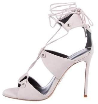 Thomas Wylde Suede Strap Sandals
