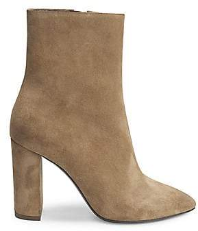 Saint Laurent Women's Loulou Suede Ankle Boots