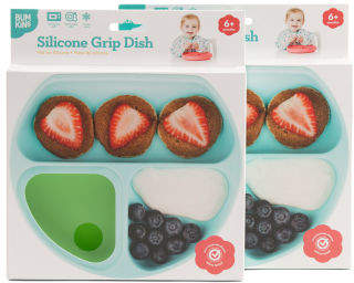 Baby 2 Pack Divided Grip Dish