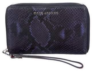 Marc Jacobs Embossed Leather Zip Wallet