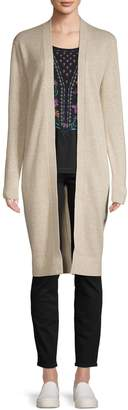 Theory Open-Front Linen Cashmere-Blend Cardigan