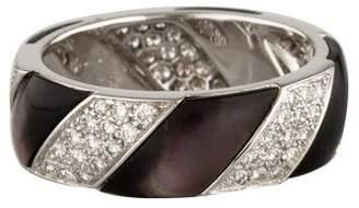 Ring 18K Mother Of Pearl & Diamond Twist